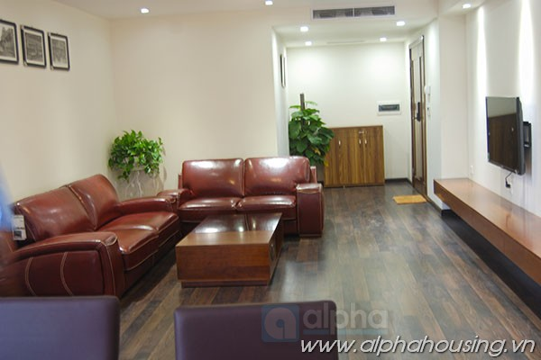 Brand new, bright and modern furnished serviced apartment in Ha Ba Trung for rent.