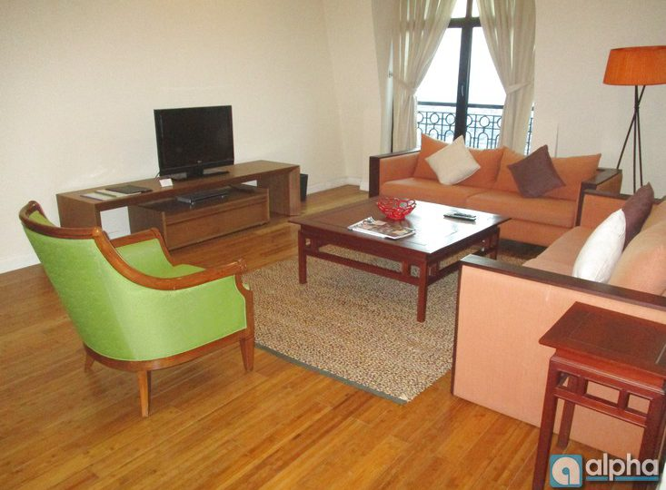 Serviced apartment for rent in Pacific Ha Noi. 02 bedrooms, full service