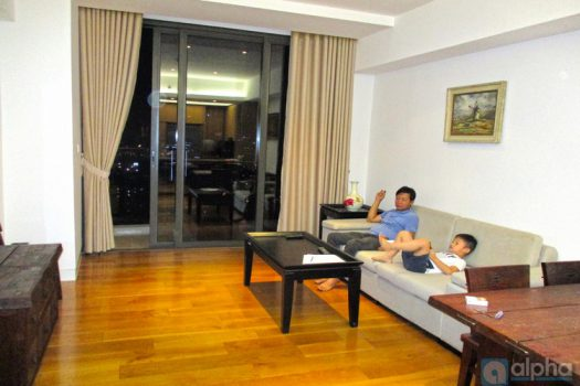 Indochina Plaza Hanoi apartment rental, furnished two bedrooms 4