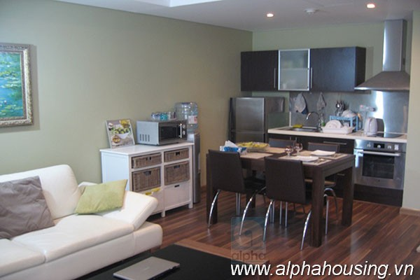 Modern one bedroom apartment for rent in Pacific, Ly Thuong Kiet, Ha Noi