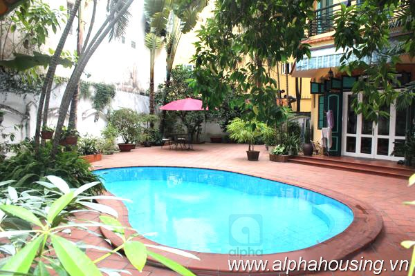 French style Villa for rent in To Ngoc Van Street, Swimming pool and nice layout