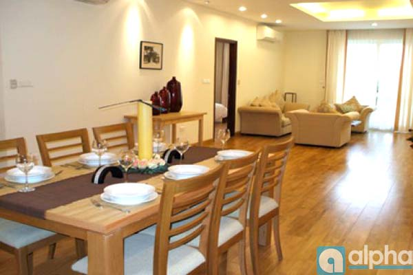 SUPER Luxury 3 bedroom apartment for rent in Hang Chuoi, Hoan Kiem