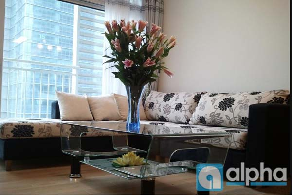 Spacious fully furnished with nice design apartment for rent/lease in Keangnam Landmark