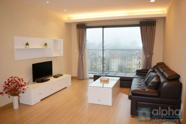 Modern style apartment for rent in Sky City, 88 Lang Ha, two bedrooms.