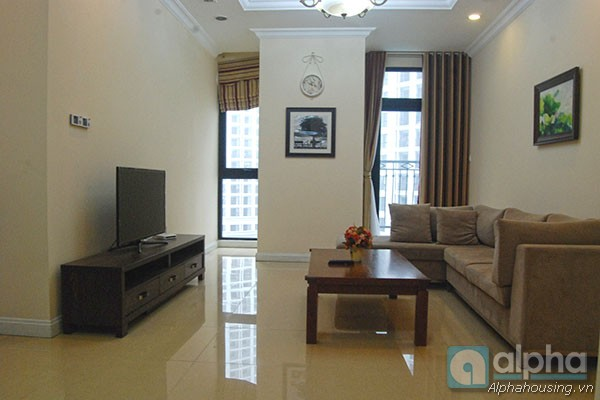 Bright two bedroom apartment for rent in Royal City, Hanoi, fully furnished, nice view