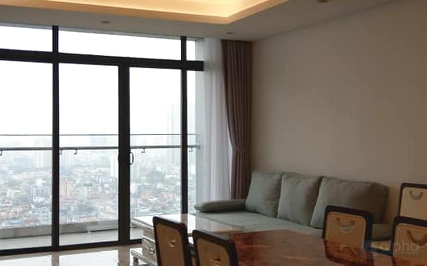 Lakeview with 2 bedroom at Sungrand City for lease in Thuy Khue