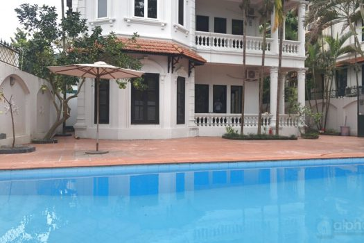 French Villa with 6 bedrooms, 5 bathrooms for lease  in To Ngoc Van 4