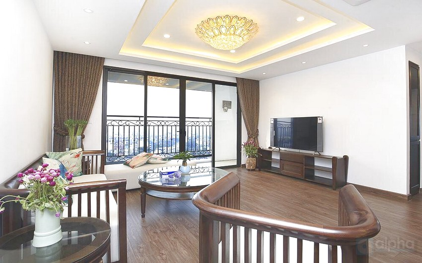 Contemporary 3 bedroom apartment for rent at Dleroi solei Xuan Dieu