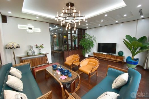 Big 6 bedroom house for rent in Vuon Dao area, with full furniture, Tay Ho district 5