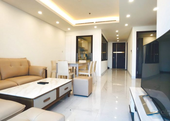 Aqua Central project, Natural light 3 bedroom apartment for rent