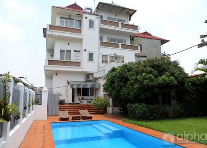 Extremely nice villa for rent in Tay Ho district, out-door pool & Lake view